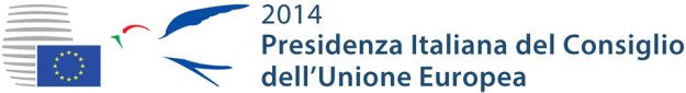 (by www.italia2014.eu/ #IT2014EU) for 1st time accompanying the Council's logo.